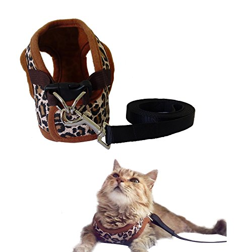 Cat Harness and Leash Set – Small Pet Vest Harness perfect for Cat or Dog Walking – Training – Escape proof Harness for Small Dogs – Choke Free harness to Prevent Injuries – Best Gift for your Pet 41vRGLNqRrL