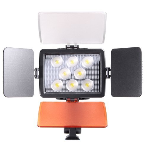 Kaavie - Professional & Improved Quality - High Brightness 8 LED Video Light + F750 Battery - Full LED Lights for Dslrs and Camcorders Canon - Nikon - Olympus - Sony - Panasonic - Pentax