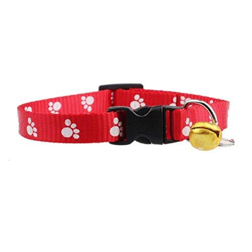 WensLTD Hotsale!Adjustable Footprints Collar Dog Collars W