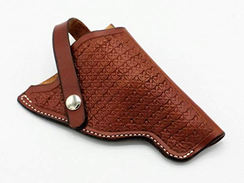 Leather Tooled Holster S&W Governor 45 and 410 caliber Ready to Ship Chestnut
