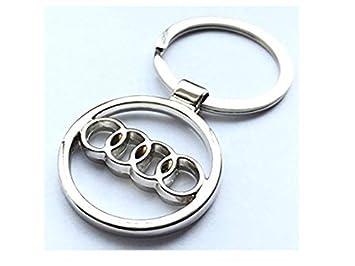 Llavero con logo de Audi 3D de cromo elegante con cadena + ...