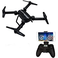 X8TW Foldable FPV RC Drone with Camera Altitude Hold APP Control with VIDEO WIFI 720P HD Camera 6 axis 4CH 2.4Ghz Gyro Gravity Sensor and Headless Mode Function RC Quadcopter