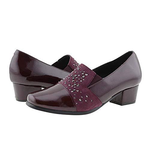Licra Doctor Zapatos Burdeos Piel Y Cutillas qatwEpt