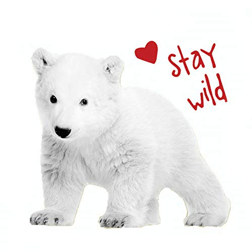 bjduck99 Clothes T-Shirt DIY Polar Bear Heat Transfer Sticker Iron-on Appliques Patch Decor