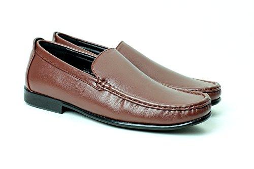 Informal Elegante Marron Hombre Cordones Mocasines Zapatos Conducción Sin gRddAwIq