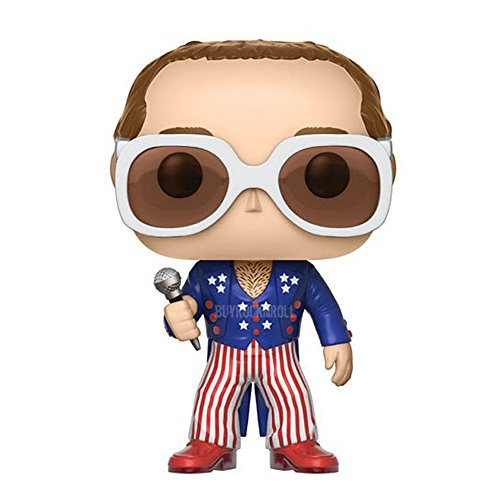 Elton John Handpicked 2017 Funko POP Rocks Patriotic Figure In Display Case #63 from Pop! Rocks