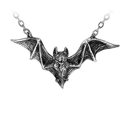 Om Strygia Vampire Bat of Balkan Necklace by Alchemy Gothic