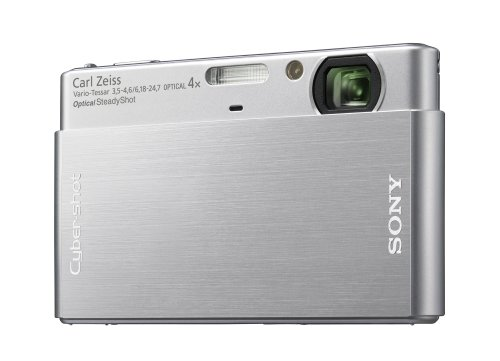 (Sony Cybershot DSC-T77 10.1MP Digital Camera with 4x Optical Zoom with Super Steady Shot Image Stabilization (Silver))