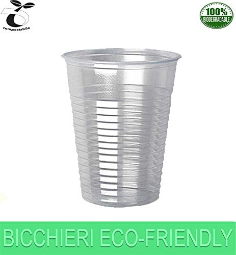 Palucart 300 Vasos biodegradables 200 ml compostables PLA Taza ...