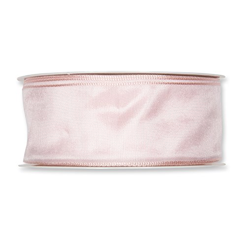 FloristryWarehouse Fabric Ribbon 1.5 inches wide x 27 yards Blush Pink