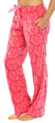 Frankie & Johnny Women's Ultra-Soft Fleece Relaxed Fit Pajama PJ Pants