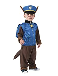 Rubies Costume Toddler PAW Patrol Chase Child Costume, One Color, 1-2 Years