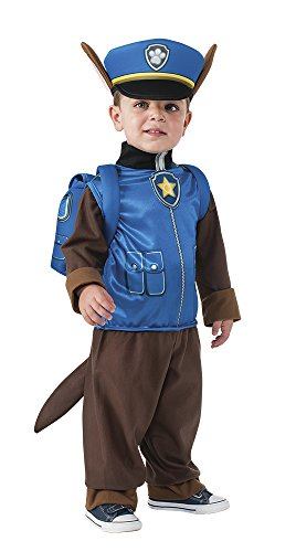 [Rubie's Costume Toddler PAW Patrol Chase Costume, X-Small Child Size] (Policeman Boys Costume)