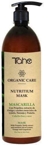 Tahe Nutritium Organic Care Mascarilla de Nutrición/Mascarilla de Pelo Nutritiva para Cabello Fino y Seco, 1000 ml
