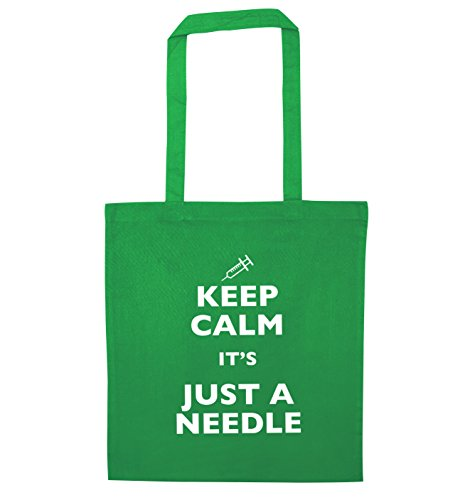 Keep calm it's just a needle tote bag   Flox Creative Green