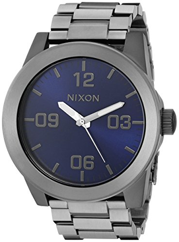 Nixon Men's A3462065 Corporal SS Analog Display Japanese Quartz Grey Watch ()