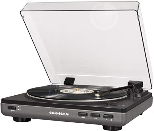 Crosley T400 Fully Automatic 2-Speed Component Turntable with Built-in Preamp, Grey