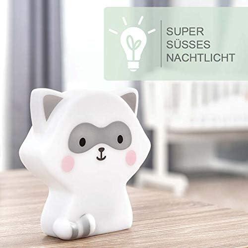 lampe pour enfants avec minuterie Veilleuse /à LED pour enfantsraton laveur avec batterie