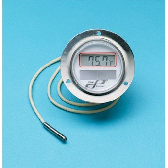 Cole-Parmer AO-90150-02 Panel-Mount Solar Powered Thermometer, 304 SS Case, 2