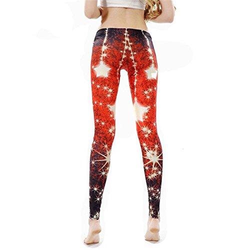 MAYUAN520 Offre de Noël Femmes imprimé filles leggings leggins Red star pour femme femmes pant