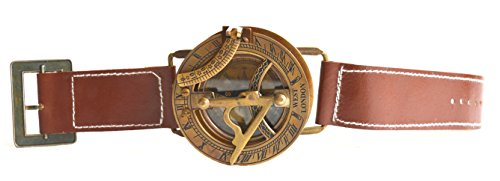 SA International Antique Finish Vintage Style Brass Wrist Watch Compass-Nautical Collectable Sundial Compass-Marine Compass Gift Compass-Nautical Gift by SA International