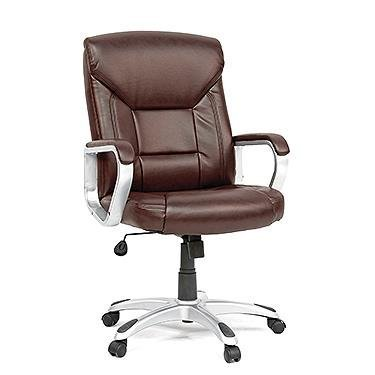 Sauder Executive Chair Leather Brown in Chair Brown - Executive Chair Sauder Office Furniture