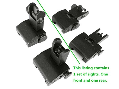 Ade Advanced Optics Flip Up Front and Rear Back-Up Iron Sight
