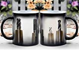 Amymami Personalized Gifts Heat Changing Magic Coffee Mug - Taps Thread Drill Milling Milling Machine Drillin
