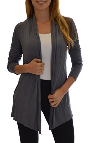 Golden Black Fashion Women's Fly Away Open Front Basic Cardigan