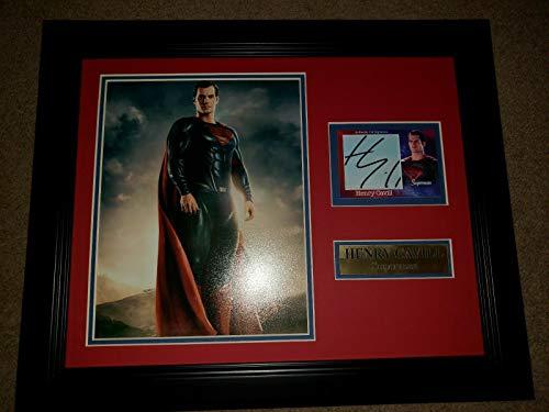 Henry Cavill Superman Autographed Custom Made Card Autograph Framed 8x10 Photo