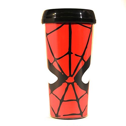 Silver Buffalo MC7087 Marvel Spider-Man Eyes Plastic Travel Mug, 16-Ounces