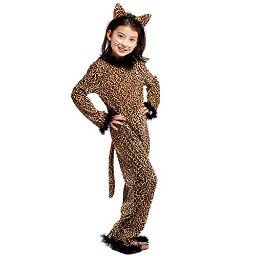 Children's Cheetah Cosplay Costume Leopard Halloween Role Play