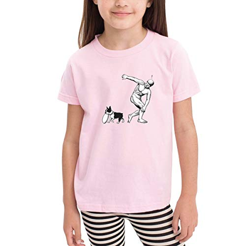 ClassicLoveU Boys Toddler T-Shirt 4T Girls Pink Shirt Printed with Funny David Dog ()