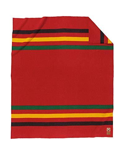 (Pendleton Rainier National Park Wool Blanket, Red, Queen Size )