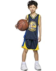 Kid Jersey Set, Kid's Basketball Uniform Mesh Quick-Drying Vest Training Uniform Jersey Shorts