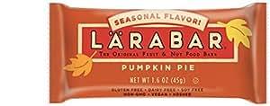 LARABAR Fruit & Nut Food Bar, Pumpkin Pie Limited Edition, Gluten Free, 1.6 Ounce Bar, 5 Count