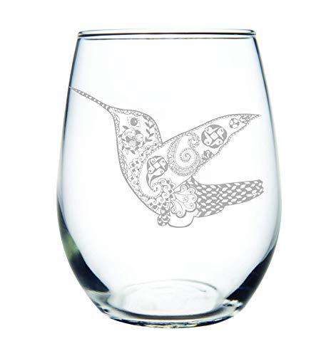 Hummingbird stemless wine glass, 15 oz.