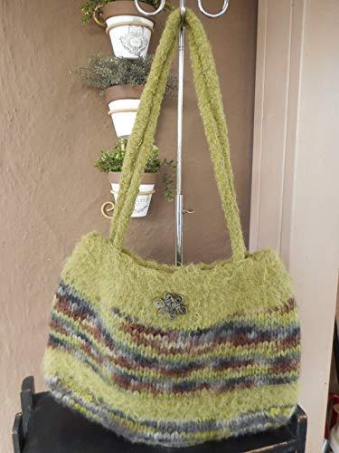 Hand Knit Felted Shoulder Handbag