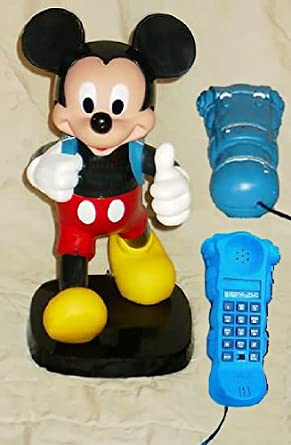 a4a0b13f8dc4d Mickey Mouse Phone - Walt Disney Special Collectable  Back Pack Mickey -  Push   Press Button Telephone with Tone ...
