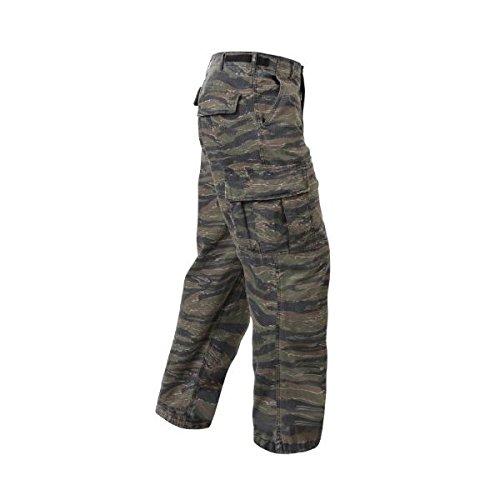 Tiger Stripe Rip-Stop Vintage Vietnam Fatigue Pants (Small) (Stripe Fatigues Vietnam Tiger)