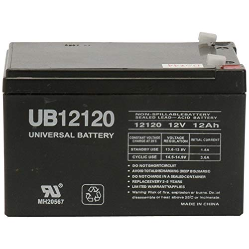 Universal Power Group 12V 12Ah Valley Dynamo Great 8 Billiards Pool Table Rechargeable Battery