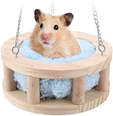 warm bed rat hammock squirrel winter toys pet hamster cage house hanging nest#Q