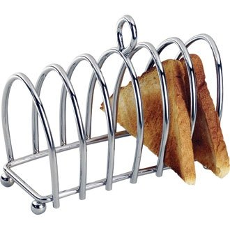 6 Slice Toast Rack (Chrome - Heavy Design) - great for breakfast presentation!