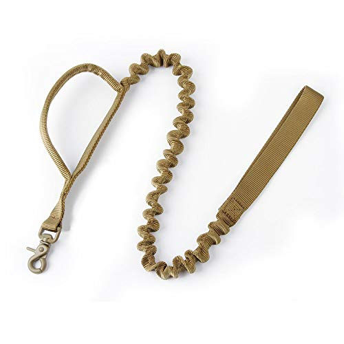 ical Dog Leash Short Nylon Bungee Traffic Quick Release Lead Rope with Control Handle for Large Dogs Hunting Training Jogging(Coyote Brown) ()