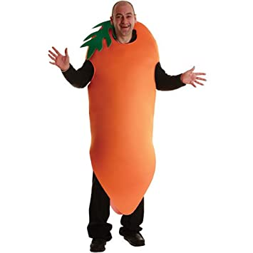 adult unisex crazy carrot costume outfit for halloween fancy dress mens ladies