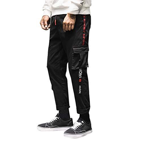 498d86dedac5 SWPS Men's Cargo Tactical Regular Trouser, Men's Fashion Casual Loose Cotton  Nine-Minute Haren