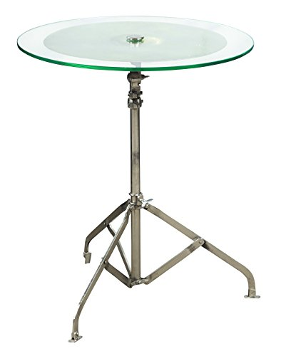 (Pulaski DS-P006010 Drum Cymbal Glass Top End Side Table, 24