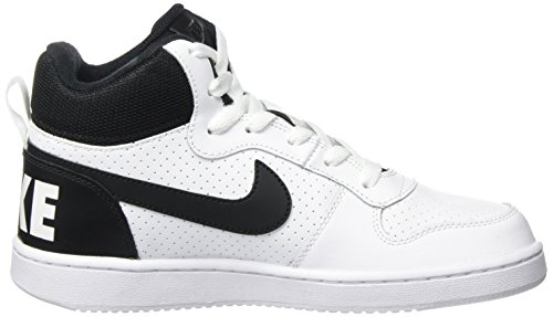 Black Chaussures Blanc White Mid Gymnastique Nike Fille GS Court de Borough xaUwwgT4vq