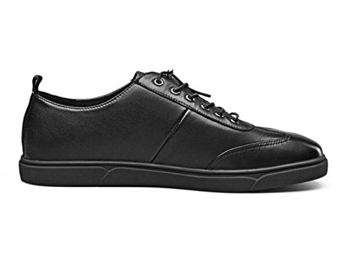 MUYII Hommes Oxfords Chaussures En Cuir Pour Hommes Plain Toe Chaussures Classique Casual Sport Hommes Non-Slip Chaussures Confortables Black xIgsEAq