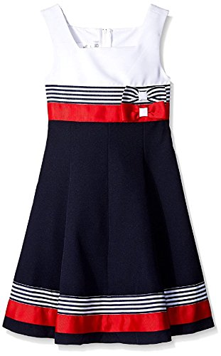 Bonnie Jean Girls Easter Scuba Special Ocassion Dress (20 1/2, Navy/Red) by Bonnie Jean (Image #2)